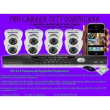 Kit De 8 Cámaras De Seguridad Sony 720 Pixeles Profesional