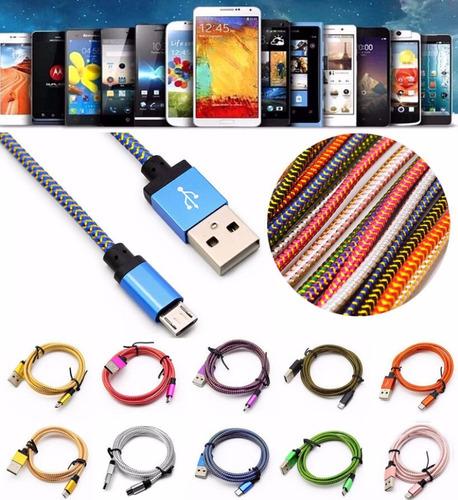 Cable Usb Extra Largo Para Cargador De Celular Y Tablet