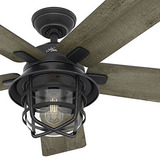 Hunter Fan 54 Weathered  Ventilador De Techo De Zinc Para Ex