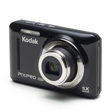 Camara Kodak Pixpro Fz53 Color Negro Con 16gb De Memoria