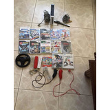 Wii Con 13 Juegos, Dos Controles Y Un Control De Manejo