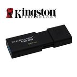 Memoria Usb 64gb 3.0 Kingston, Data Traveler 100 G3.