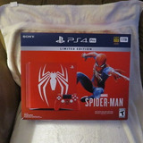 Spider-man Ps4 Pro 1tb Limited Edition Console Bundle With