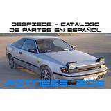 Manual Despiece Catalogo Toyota Celica 1985 - 1987 Español