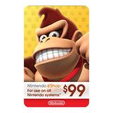 Nintendo Switch 3ds Eshop 99 Usd Codigo Digital Para Juegos
