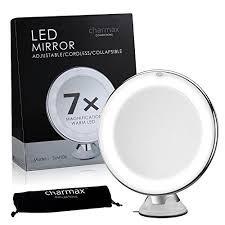 Espejo De Maquillaje Iluminado Con Aumento 7x. Warm Led