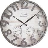 Firstime 31038 Reloj De Pared Para Exterior Color Gris Claro