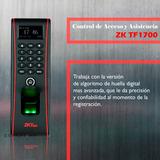 Control De Acceso Y Asistencia Zk Tf1700, A Prueba De Agua
