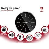 Reloj De Pared Con Cámara Full Hd Espía Ip 1080p Wifi Oculta