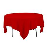 Mantel De Lino 85inch Mantel Cuadrado De Poliester Rojo