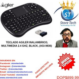 Teclado Agiler Inalambrico Multimedia 2.4 Ghz, Black, (agi-9
