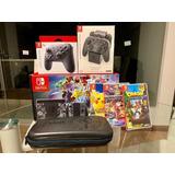Nintendo Switch + 3 Juegos + Pro Control Nuevo De Regalo
