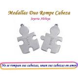 Medallas Rompe Cabeza En Plata 925.