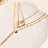 Collar Layer Capas Triángulo Amor Arbol Suerte Fashion Amor