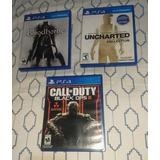 Juegos De Ps4 Uncharted, Bloodborne, Call Of Duty
