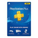 Membresia Psn Playstation Plus 1 Mes Ps4 Ps3 Codigo Digital