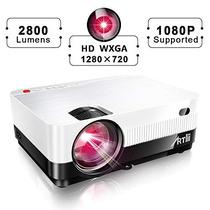 Proyector Portátil De Video Artlii 1080p Soporte 2800 Lúmene