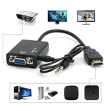 Cable/convertidor/adaptador Hdmi A Vga Con Audio