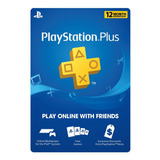 Membresia Psn Playstation Plus 1 Año Ps4 Ps3 Codigo Digital