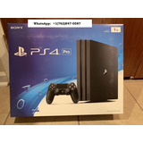 Sony Playstation 4 Pro Launch Edition 1tb Black Console