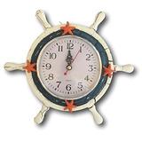 Reloj De Playa Velero Volante Helm  Reloj Decoración  Azul Y