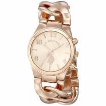 Reloj Polo  Assn Usc40176 Gold Rose Para Dama Original