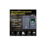 Control De Acceso De Huella Digital Zkt X6 Servicio