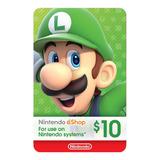 Nintendo Switch 3ds Eshop 10 Usd Codigo Digital Para Juegos
