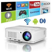 Home Wireless Bluetooth Proyector Hd Hdmi Para iPhone Macboo