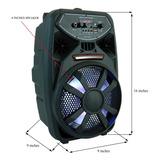 Bocina Grande Con Microfono Radio Amplificador Bluetooth