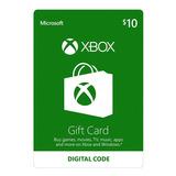 Xbox One Y 360 Live Store 10 Usd Codigo Digital Para Juegos