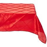 Linentablecloth Cuadrado Recubierta De Pintuck 72 Rojo