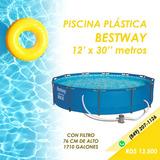 Piscina Bestway Estructura Metálica 12'x30''