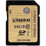 Memoria Sd 64gb Kingston, Sdxc, Clase 10 Uhs-1.