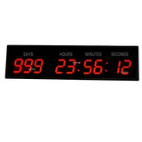 3 9digits Large Led Wall Clock Countdown Count Up Temporizad