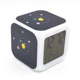 Egs Reloj Despertador Digital Con Sistema Solar De Nueve Pla