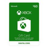 Xbox One Y 360 Live Store 60 Usd Codigo Digital Para Juegos
