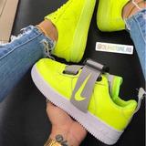 Tenis Nike Air Force One [ Croki Croqui ]verde Lumínico