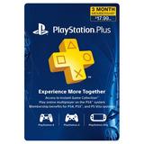 Sony Psn Playstation Plus Membresía De 3 Meses
