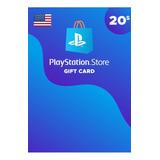 Playstation Network Card Psn $20 Usd Usa Digital Codigo