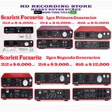 Focusrite Scarlett Tarjeta Interfaz Mixer Audio 2i2 2i4 6i6