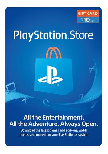Psn Playstation Ps4 Store 10 Usd Codigo Digital Para Juegos