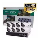 Kit Seguridad Cctv Dvr 4ch Full Hd 1080p 8 Camaras Hd
