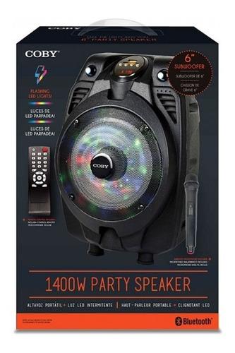 Bocina Coby 6  Con Microfono, Control, Bluetooth, Negras