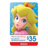 Nintendo Switch 3ds Eshop 35 Usd Codigo Digital Para Juegos
