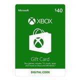 Xbox One Y 360 Live Store 40 Usd Codigo Digital Para Juegos