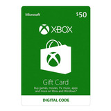 Xbox One Y 360 Live Store 50 Usd Codigo Digital Para Juegos