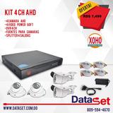 Kit Dvr De 4ch Con 4 Camaras De Seguridad Cctv