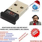 Adaptador De Red Usb Wifi Nexxt Nanolynx, 2.4ghz/150mbps, 80