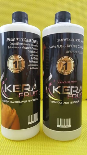 Cirugia Capilar Kerafruit + Shampoo Sin Sal